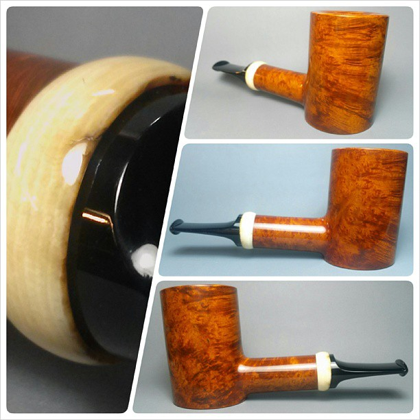 Just finished smooth poker with mammoth tusk Artisan Nate King Pipes